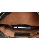 Фотография Кожаная коричневая классическая сумка на плечо 78532-SKE
