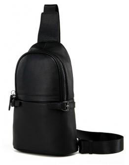Чёрный мужской рюкзак на одну шлейку 7856-1A