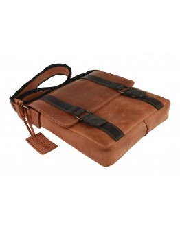 Коричневая удобная кожаная сумка на плечо 78733-SKE