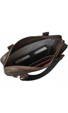 Коричневая кожаная деловая сумка формата А4 7877712-SGE