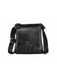 Кожаная мужская сумка через плечо 7882-3 BLACK