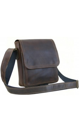 Мужская повседневная кожаная коричневая сумка 78820-SGE