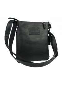 Мужская черная кожаная небольшая сумка 78827-SKE