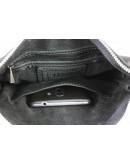 Фотография Мужская черная кожаная небольшая сумка 78827-SKE
