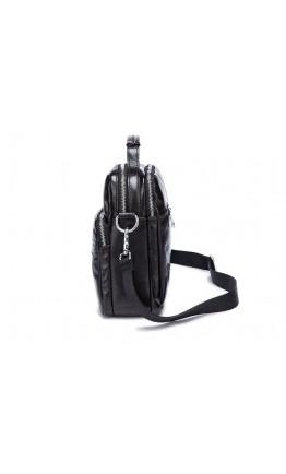 Кожаная темно-коричневая мужская деловая сумка 78842