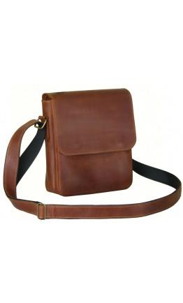 Мужская кожаная сумка на плечо рыжего цвета 78844-SGE
