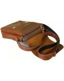 Фотография Мужская кожаная сумка на плечо рыжего цвета 78844-SGE