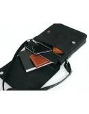 Фотография Кожаная мужская черная сумка на плечо 788445-SGE