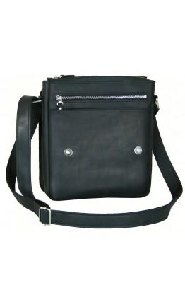 Кожаная мужская черная сумка на плечо 788445-SGE