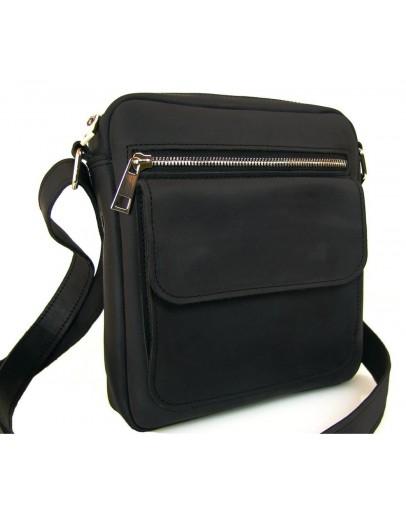 Фотография Черная мужская кожаная сумка накаждый день 78879-SGE