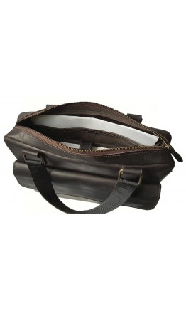 Коричневая сумка формата А4 кожаная 7888812-SGE