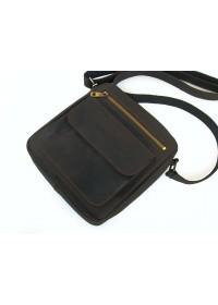 Коричневая мужская сумка на плечо - мессенджер 78889-SGE
