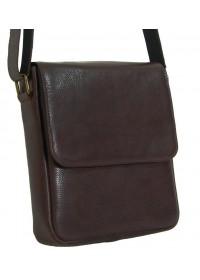 Коричневая кожаная мужская деловая сумка на плечо 78891-SGE