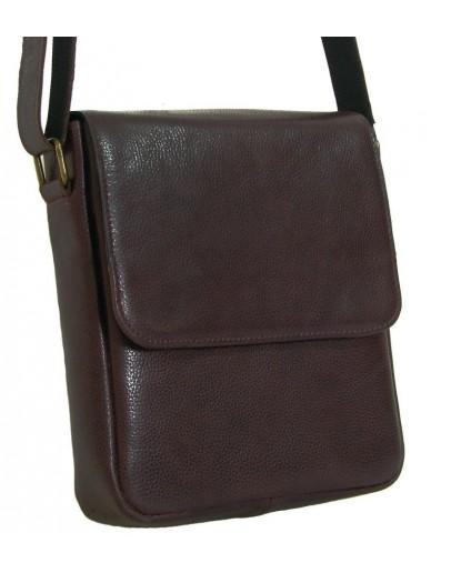 Фотография Коричневая кожаная мужская деловая сумка на плечо 78891-SGE