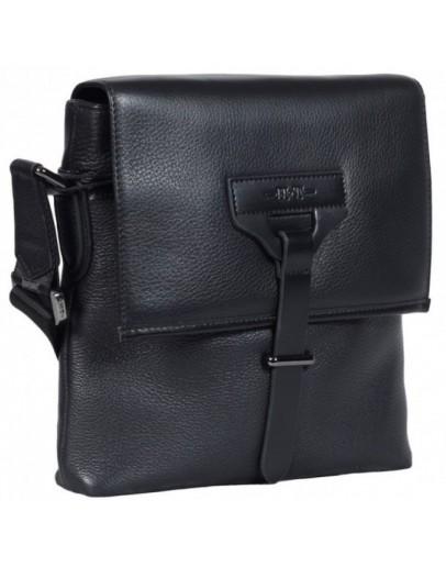 Фотография Кожаная мужская сумка на плечо 7891-4 BLACK
