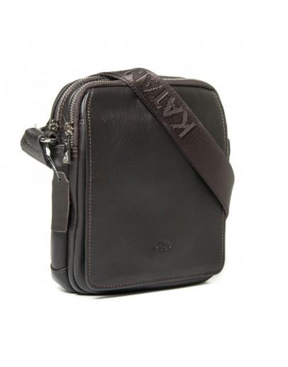 Фотография Повседневная компактная сумка на плечо коричневая Katana k789104-2