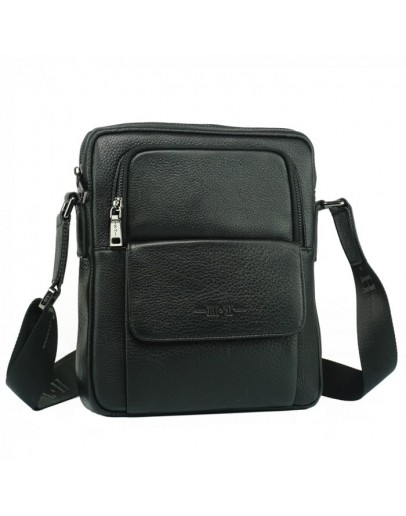 Фотография Черная мужская сумка на плечо 7892-4 BLACK