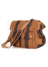 Коричневая тканевая сумка, прочный канвас 79002B