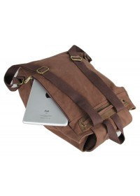 Тканевый рюкзак мужской с кожаными вставками 79008с