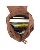 Фотография Тканевый рюкзак мужской с кожаными вставками 79008с