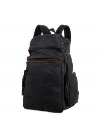 Большой мужской рюкзак, тканевый черный 79016a
