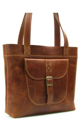 Коричневая женская удобная кожаная сумка 79017W-SGE