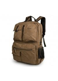 Рюкзак из прочной ткани канвас коричневый 79021B