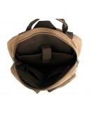 Фотография Рюкзак из прочной ткани канвас коричневый 79021B