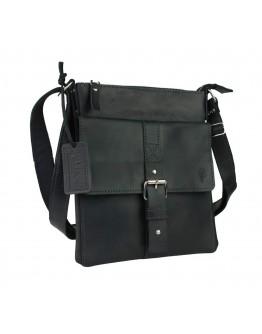 Черная мужская сумка на плечо-планшетка 79025A-SKE