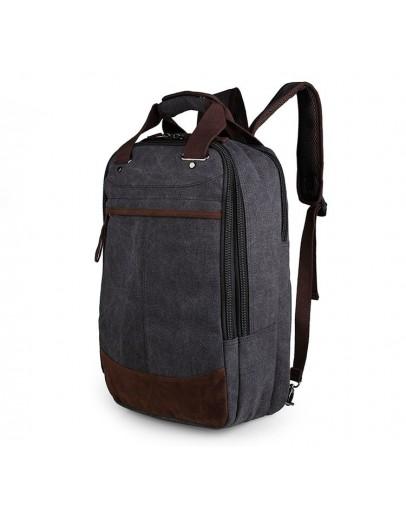 Фотография Мужской рюкзак тканевый, с коричневыми вставками 79028A
