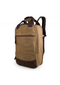 Коричневый тканевый мужской рюкзак с ручками 79028C