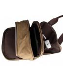 Фотография Коричневый тканевый мужской рюкзак с ручками 79028C