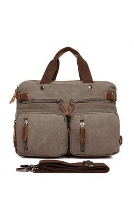 Сумка рюкзак из прочной серой ткани 79030C3