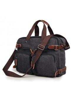 Сумка рюкзак из прочной чёрной ткани 79030