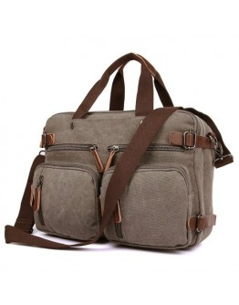 Серая мужская тканевая сумка рюкзак, вмещает ноутбук 17 79030gr