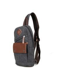 Тканево-кожаный мужской городской рюкзак 79034A