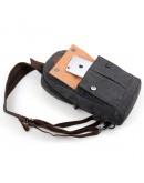 Фотография Тканево-кожаный мужской городской рюкзак 79034A