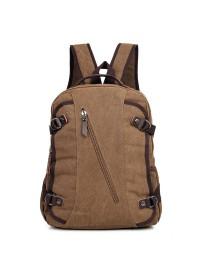 Коричневый мужской тканевый рюкзак 79037C