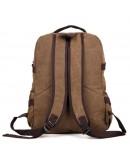 Фотография Коричневый мужской тканевый рюкзак 79037C