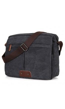 Тканевая чёрная сумка на плечо 79039a