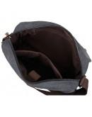 Фотография Тканевая чёрная сумка на плечо 79039a