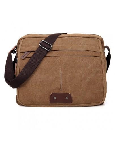 Фотография Тканевая коричневая сумка на плечо 79039c