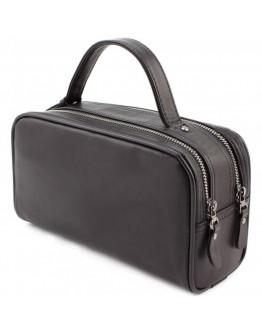 Мужской черный кожаный несессер Marco Coverna 7935-144