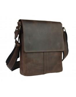 Коричневая кожаная плечевая мужская сумка 79432-SKE
