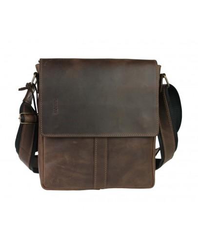 Фотография Коричневая кожаная плечевая мужская сумка 79432-SKE