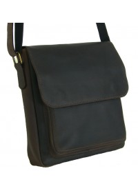 Коричневая мужская сумка на плечо - мессенджер 79666-SGE