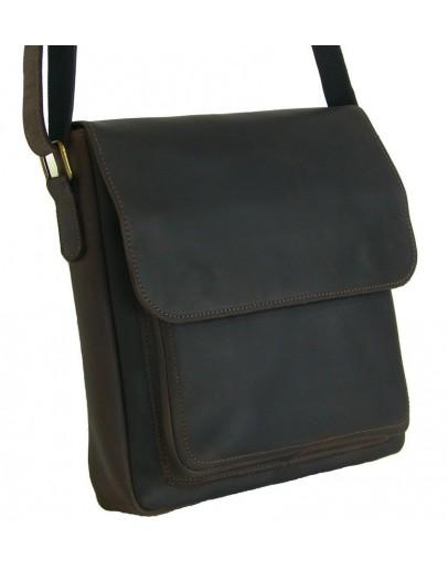 Фотография Коричневая мужская сумка на плечо - мессенджер 79666-SGE