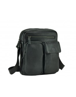 Черная кожаная сумка мужская - барсетка 79812-1A