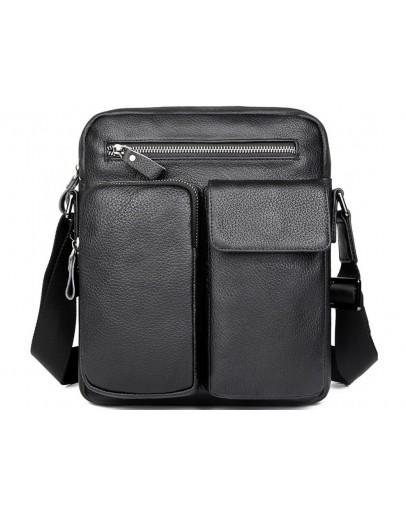 Фотография Черная кожаная сумка мужская - барсетка 79812-1A