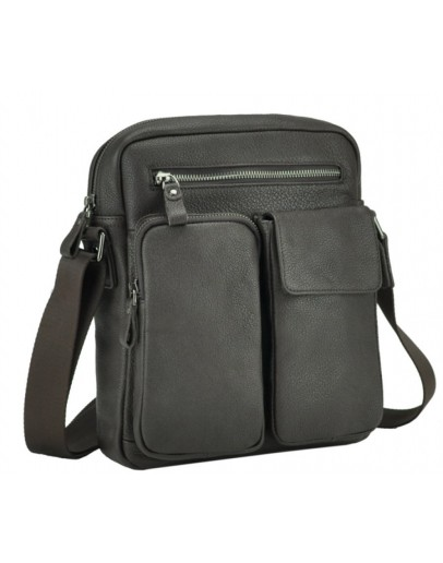 Фотография Коричневая кожаная мужская сумка - барсетка 79812-1C
